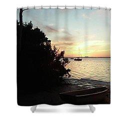 Sunset At Crystal Beach Shower Curtain