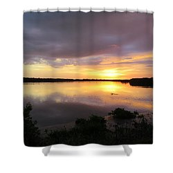 Sunset At Ding Darling Shower Curtain