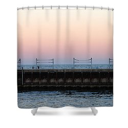 Sunset At Diversey Harbor Shower Curtain