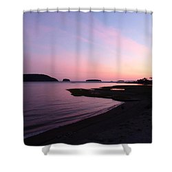 Sunset At Five Islands Shower Curtain by Joel Deutsch