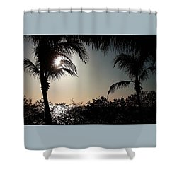 Sunset At Flamingo 1 Shower Curtain by Ellen O'Reilly
