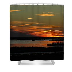 Sunset At Forsythe Reserve Shower Curtain