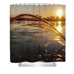Sunset At Gator Hole 2 Shower Curtain