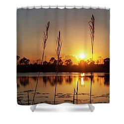 Sunset At Gator Hole 3 Shower Curtain