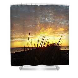Sunset At Goose Island, Tx Shower Curtain
