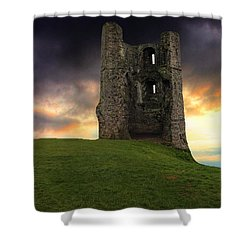 Sunset At Hadleigh Castle Shower Curtain