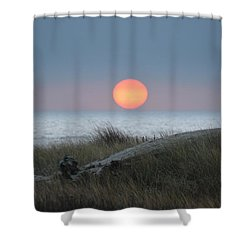 Sunset At Halfmoon Bay Shower Curtain
