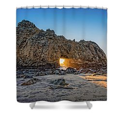 Sunset At Hole In The Rock Shower Curtain by James Hammond
