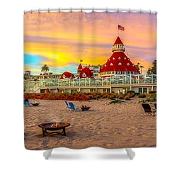 Sunset At Hotel Del Coronado Shower Curtain