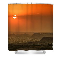 Shower Curtain featuring the photograph Sunset At Jodhpur by Yew Kwang