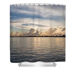 Sunset At Key Largo Shower Curtain by Christopher L Thomley