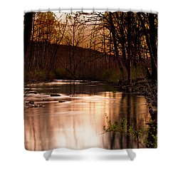 Sunset At King's River Shower Curtain by Tamyra Ayles