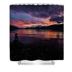 Sunset At Lake Mcdonald Shower Curtain