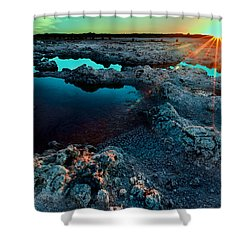 Shower Curtain featuring the photograph Sunset At Lake Walyungup by Julian Cook