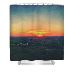 Sunset At Lapham Peak #3 - Wisconsin Shower Curtain by Jennifer Rondinelli Reilly - Fine Art Photography