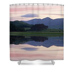 Sunset At Loch Tulla Shower Curtain by Stephen Taylor