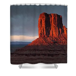 Sunset At Monument Valley Shower Curtain