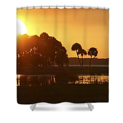 Sunset At Myakka River State Park In Florida, Usa Shower Curtain