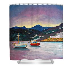 Sunset At Mykonos Shower Curtain