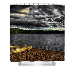 Sunset At Nicks Lake Shower Curtain by David Patterson