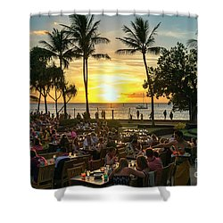 Sunset At Old Lahaina Luau #1 Shower Curtain