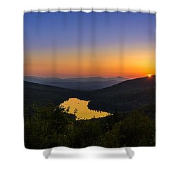 Sunset At Owls Head Shower Curtain by Tim Kirchoff