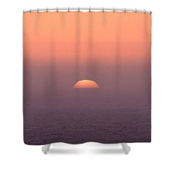 Shower Curtain featuring the photograph Sunset At Pacifica by Peter Simmons