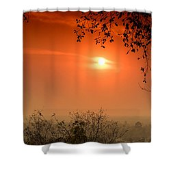 Sunset At Phnom Bakheng Of Angkor Wat Shower Curtain
