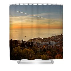 Sunset At Piran Shower Curtain