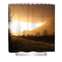 Sunset At Pitt Lake Dyke Shower Curtain