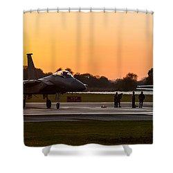 Sunset At Raf Lakenheath Shower Curtain