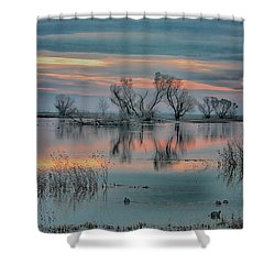 Sunset At San Luis   Shower Curtain