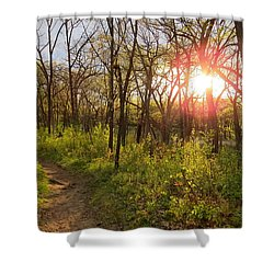 Shower Curtain featuring the photograph Sunset At Scuppernong by Kimberly Mackowski