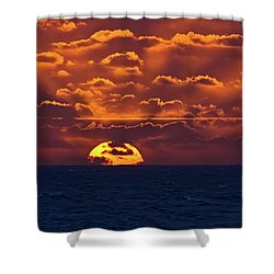 Shower Curtain featuring the photograph Sunset At Sea Part Two by John Haldane