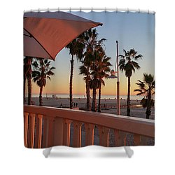 Sunset At Shutters Shower Curtain