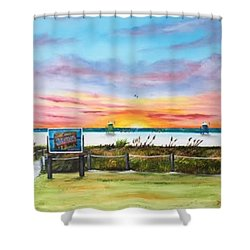 Sunset At Siesta Key Public Beach Shower Curtain