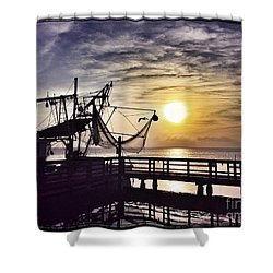 Sunset At Snoopy's Shower Curtain