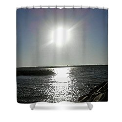 Sunset At Solomons Island Md Shower Curtain