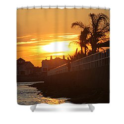 Shower Curtain featuring the photograph Sunset At South 2nd St by Robert Banach