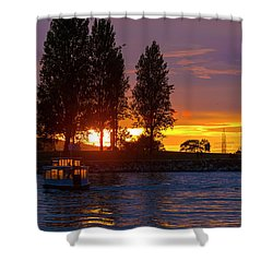 Sunset At Sunset Beach In Vancouver Bc Shower Curtain