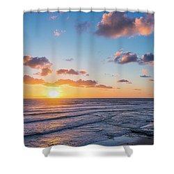 Sunset At Swami's Beach  Shower Curtain