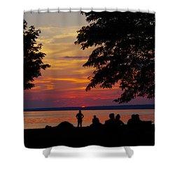 Sunset At Sylvan Beach Shower Curtain