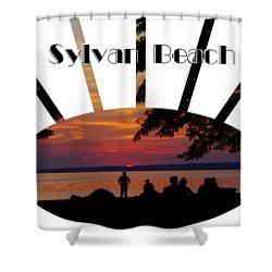 Sunset At Sylvan Beach - T-shirt Shower Curtain