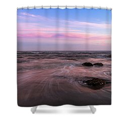 Sunset At The Atlantic Shower Curtain by Andreas Levi