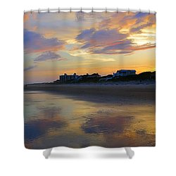 Sunset At The Beach Shower Curtain by Betty Buller Whitehead