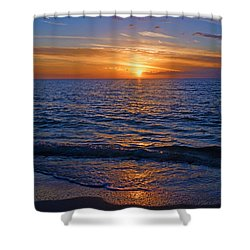 Sunset At The Beach In Naples, Fl Shower Curtain