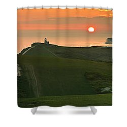 Sunset At The Belle Tout Lighthouse Shower Curtain