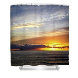 Sunset At The Canary Island La Palma Shower Curtain