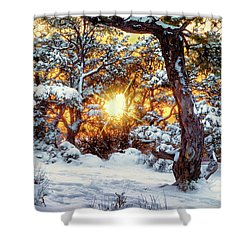 Sunset At The Canyon Shower Curtain