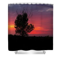 Sunset At The Danube Banks Shower Curtain